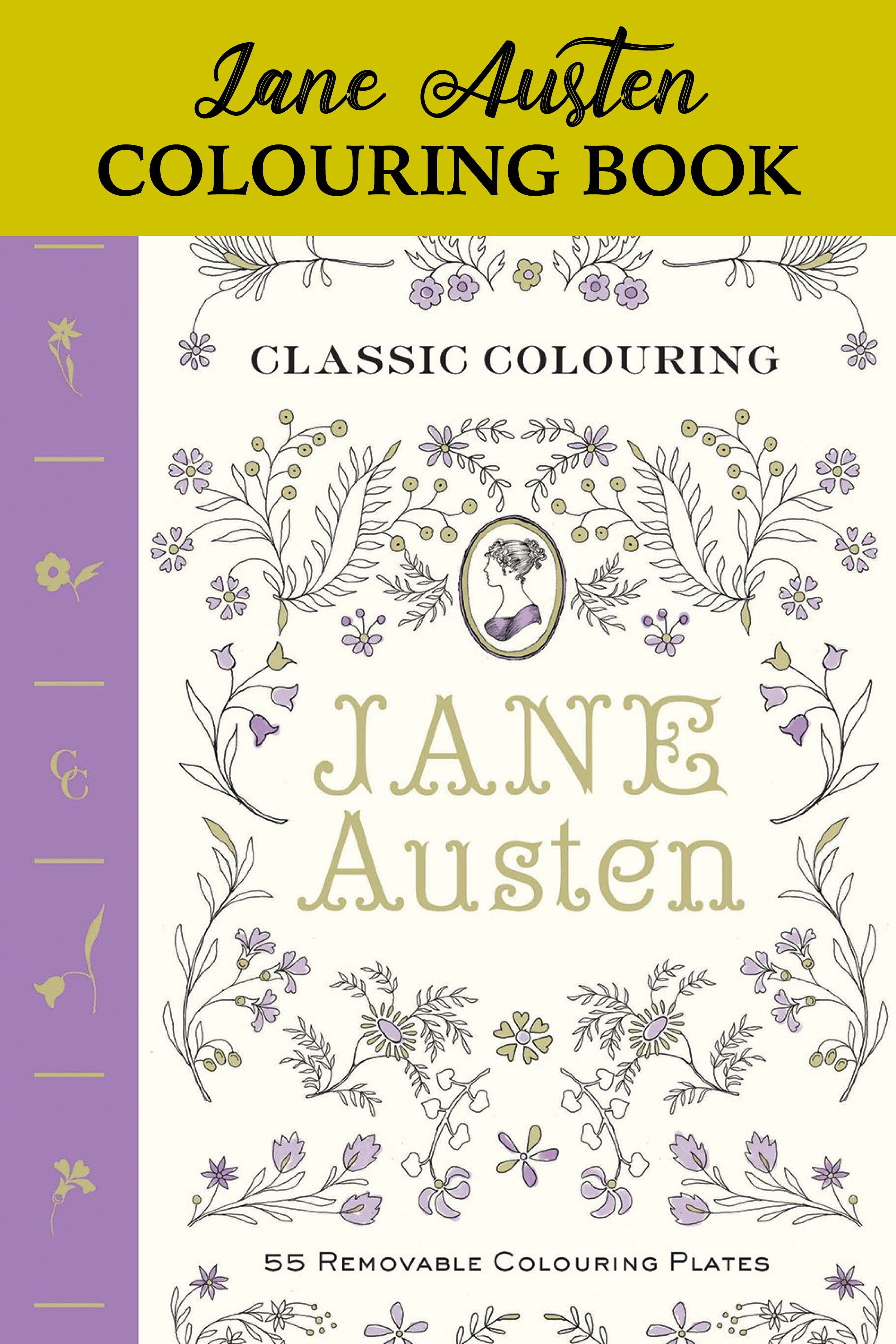 Jane Austen Colouring Book Literary Coloring Books Are A Perfect