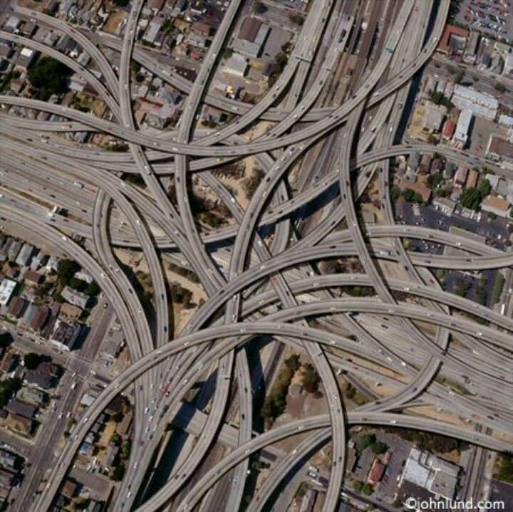 A Aerial View Of How Crazy The Freeways Are Here In Dallas With