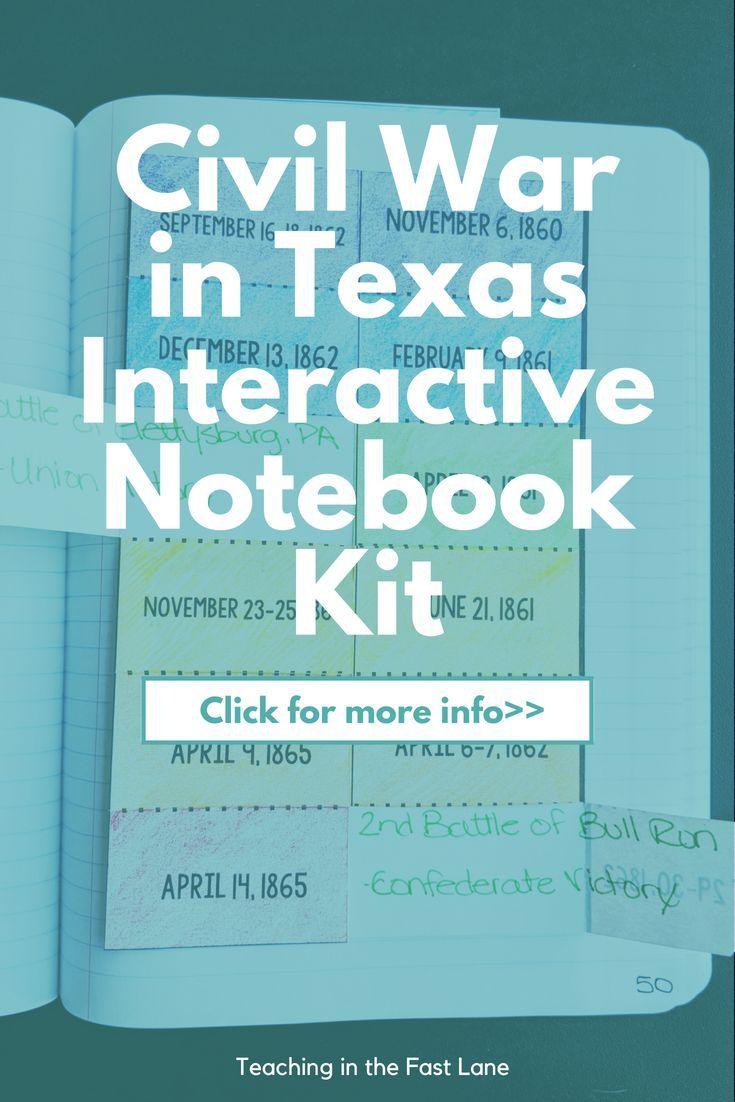 Photo of Civil War in Texas Interactive Notebook