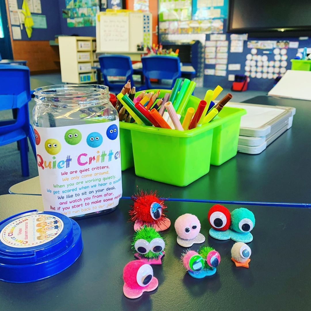 """Hayley's Classroom on Instagram: """"QUIET CRITTERS!! � These are genius! Put a Quiet Critter on your kiddies' desk while they're meant to be working quietly and watch the hush…"""""""