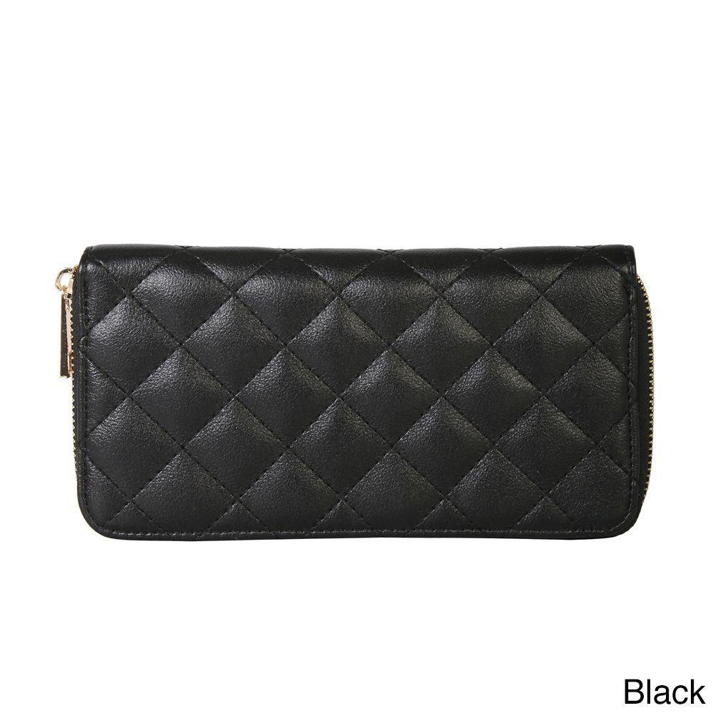 Rimen & Co. Simple Quilted Faux Wallet, Women's
