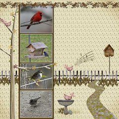 Pages made with Granny Finch's Garden Page Kit by #Snickerdoodle Designs.  This is one of my all time favorite kits.  #theStudio #digiscrap