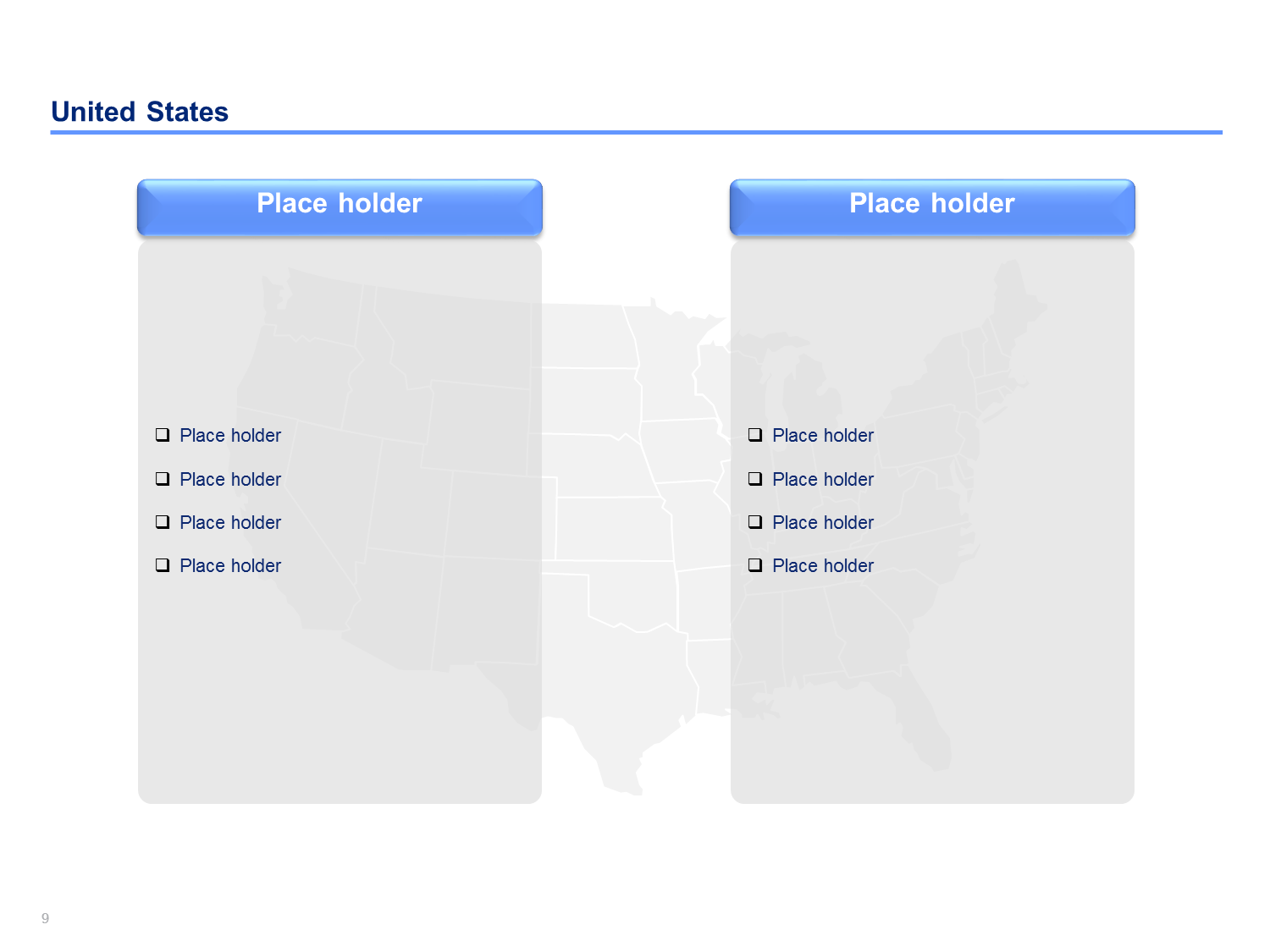 US Map Templates - Powerpoint slide with us map