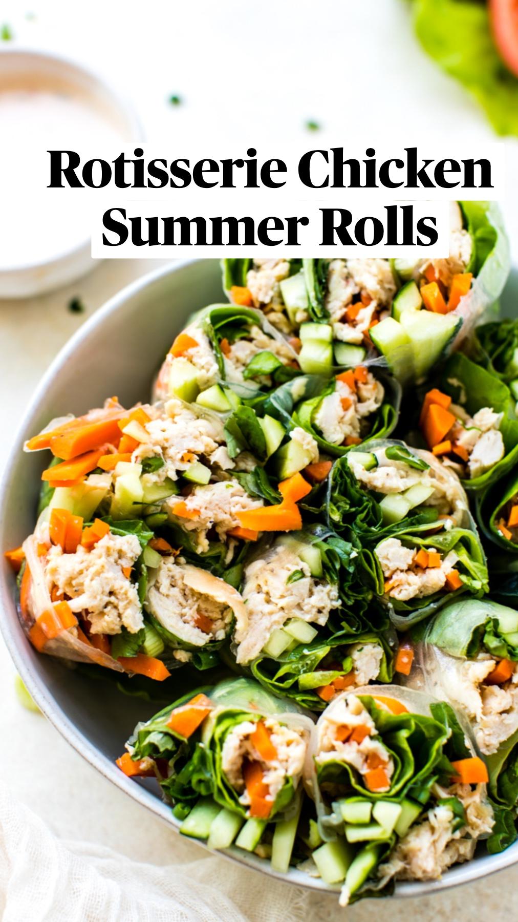 Rotisserie Chicken Summer Rolls