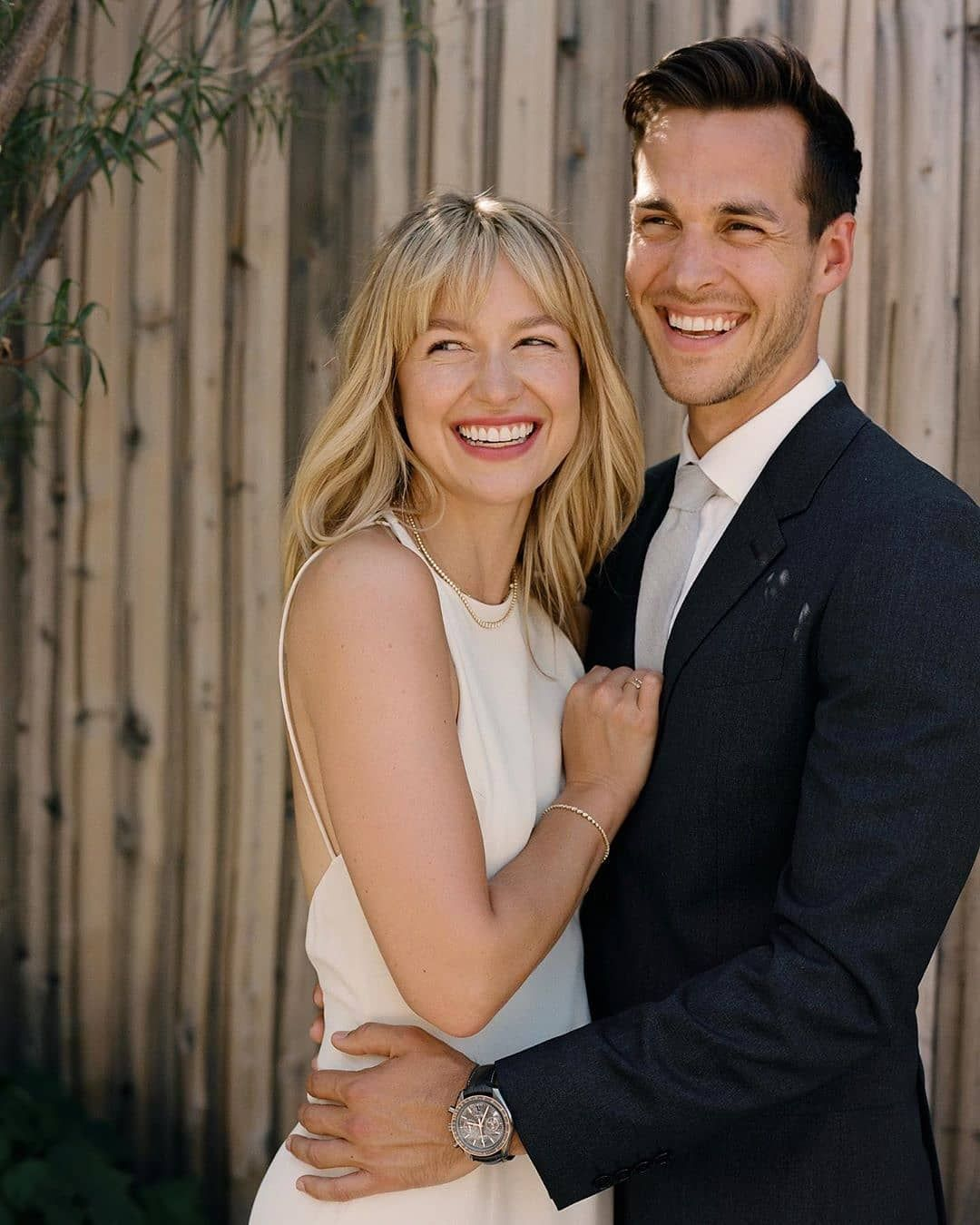 Melissa Chris Wood On Instagram They Look So Pure Happy Oh Lord I Sobbin Melissabenoist In 2020 Melissa Supergirl Melissa Benoist Wedding Chris Wood