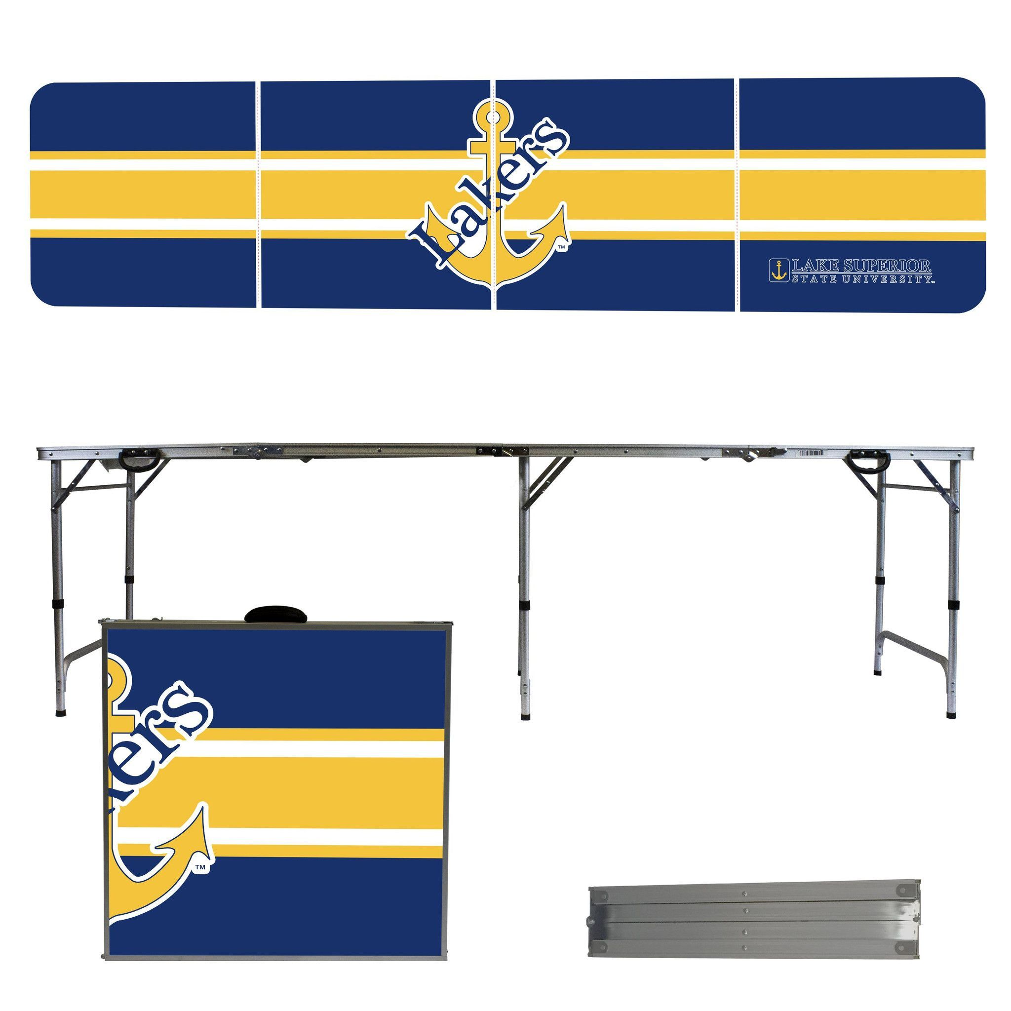 Lake Superior State University Lakers 8 Foot Portable Tailgate and Pong Table