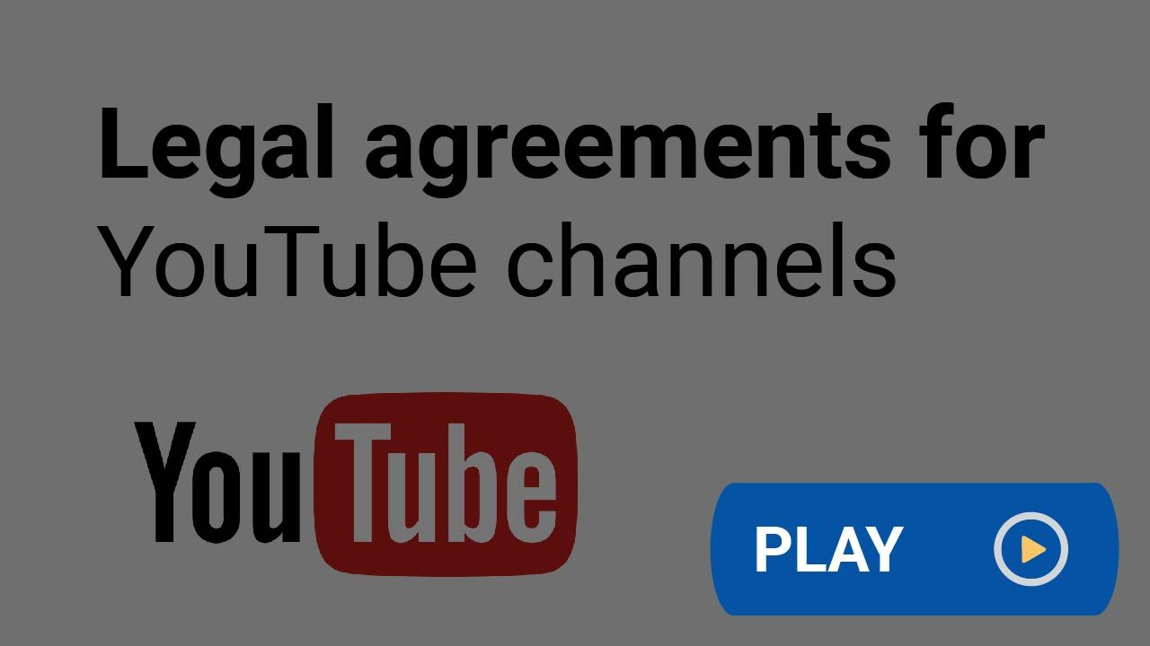 Would Your Youtube Channel Benefit From Legal Agreements Like A Privacy Policy Or Terms And Conditions Agreement Learn More Here You Youtube Agreement Youtube