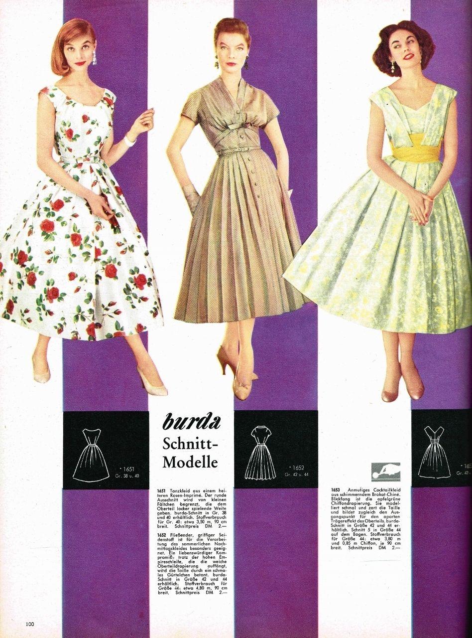 Burda Moden International Frühling/Sommer 1957 Schnittmuster Sonderheft 154 Seit   eBay
