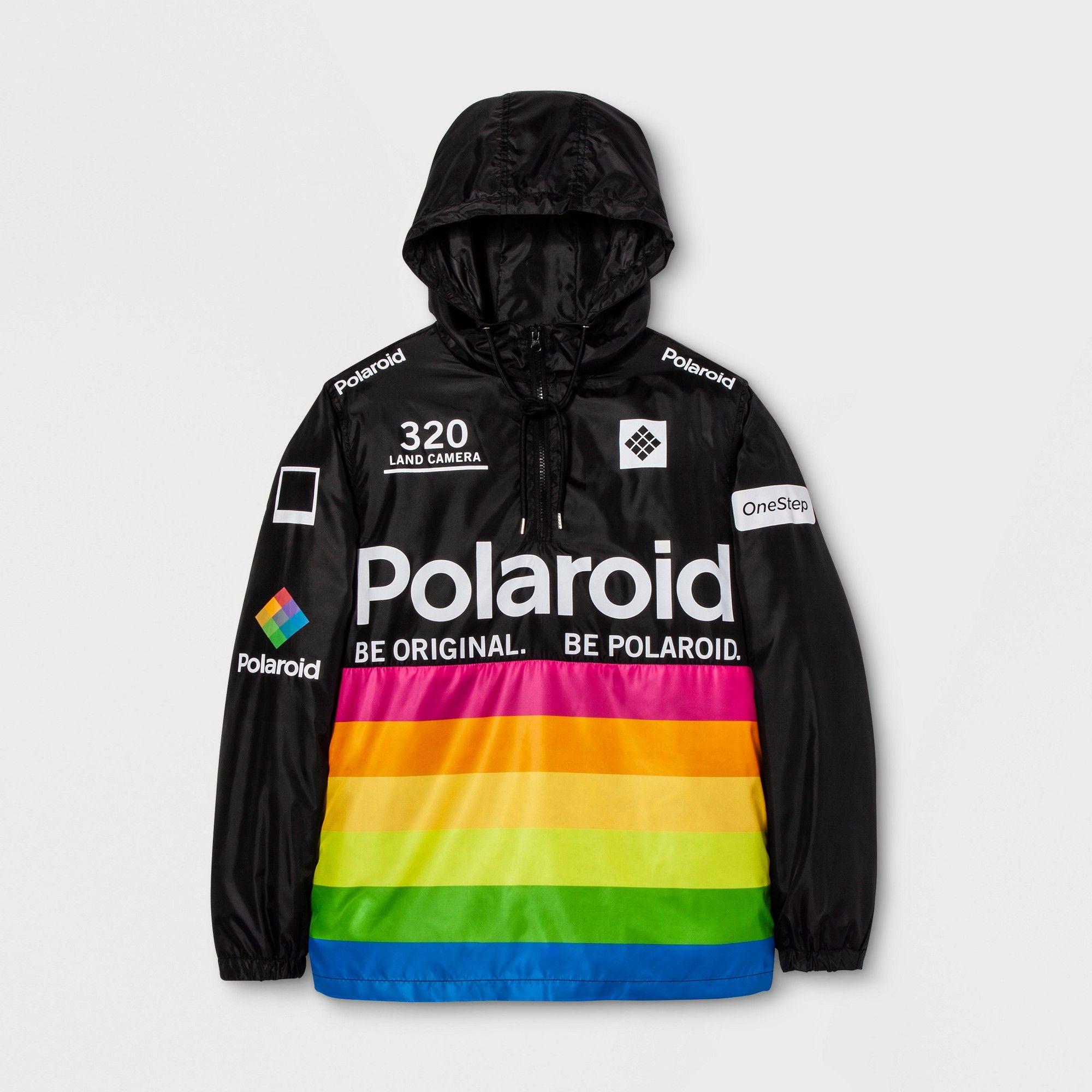5c0afa04f Men's Long Sleeve Polaroid Hooded Pullover Anorak Jacket - Black 2XL ...