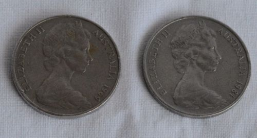 2-coins-Australia-20-cents-1969