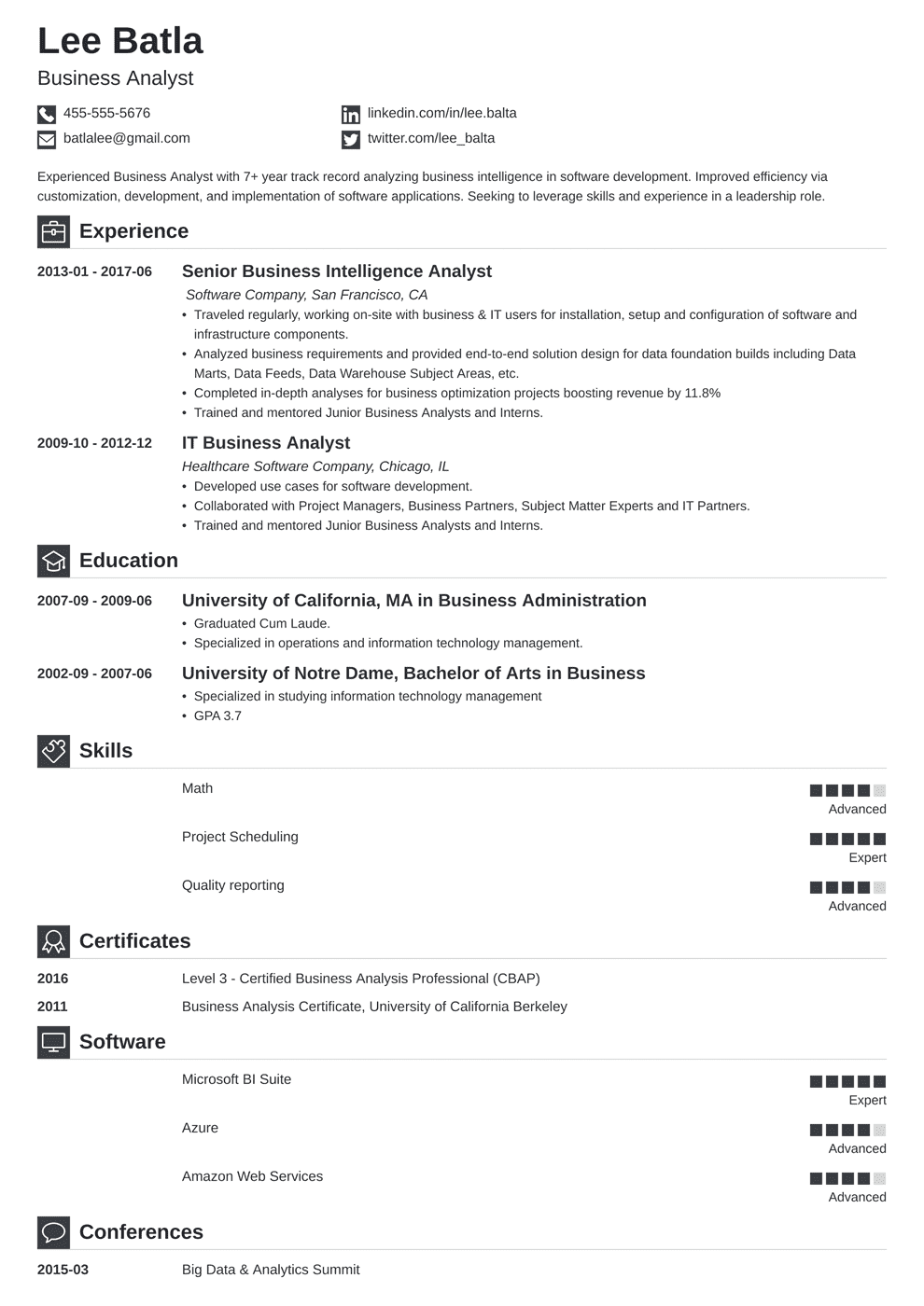 Business Analyst Resume Template Iconic Resume No Experience Engineering Resume Business Analyst Resume