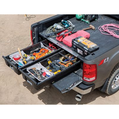Free Shipping Decked Pickup Truck 2 Drawer Storage System Fits Select Pickup Truck Makes Models And Bed Lengt In 2020 Truck Bed Storage Decked Truck Bed Truck Bed