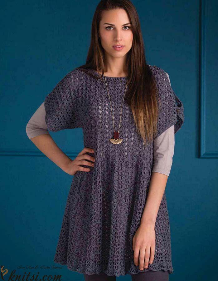 49d31c992e Tunic crochet pattern free knitsi.com/crochet-tunics-dresses /385-free-crochet-tunic-pattern