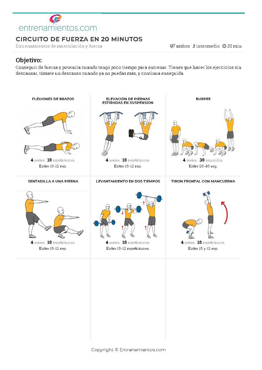 rutina de gimnasio para potencia
