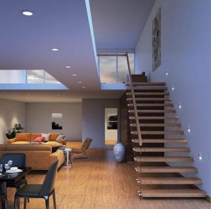 Best Wooden Stairs Round Ideas Step Lighting Indoor 400 x 300