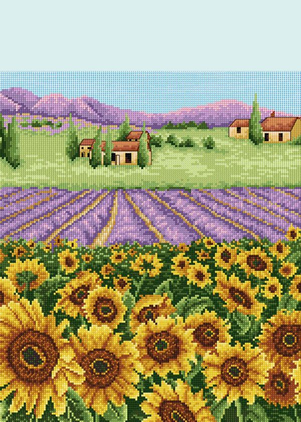 Sunflower and Lavender Field, from Anchor/Coats.