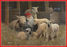 Swedish Christmas Poster  Lamb Tomte  - J Bergerlind