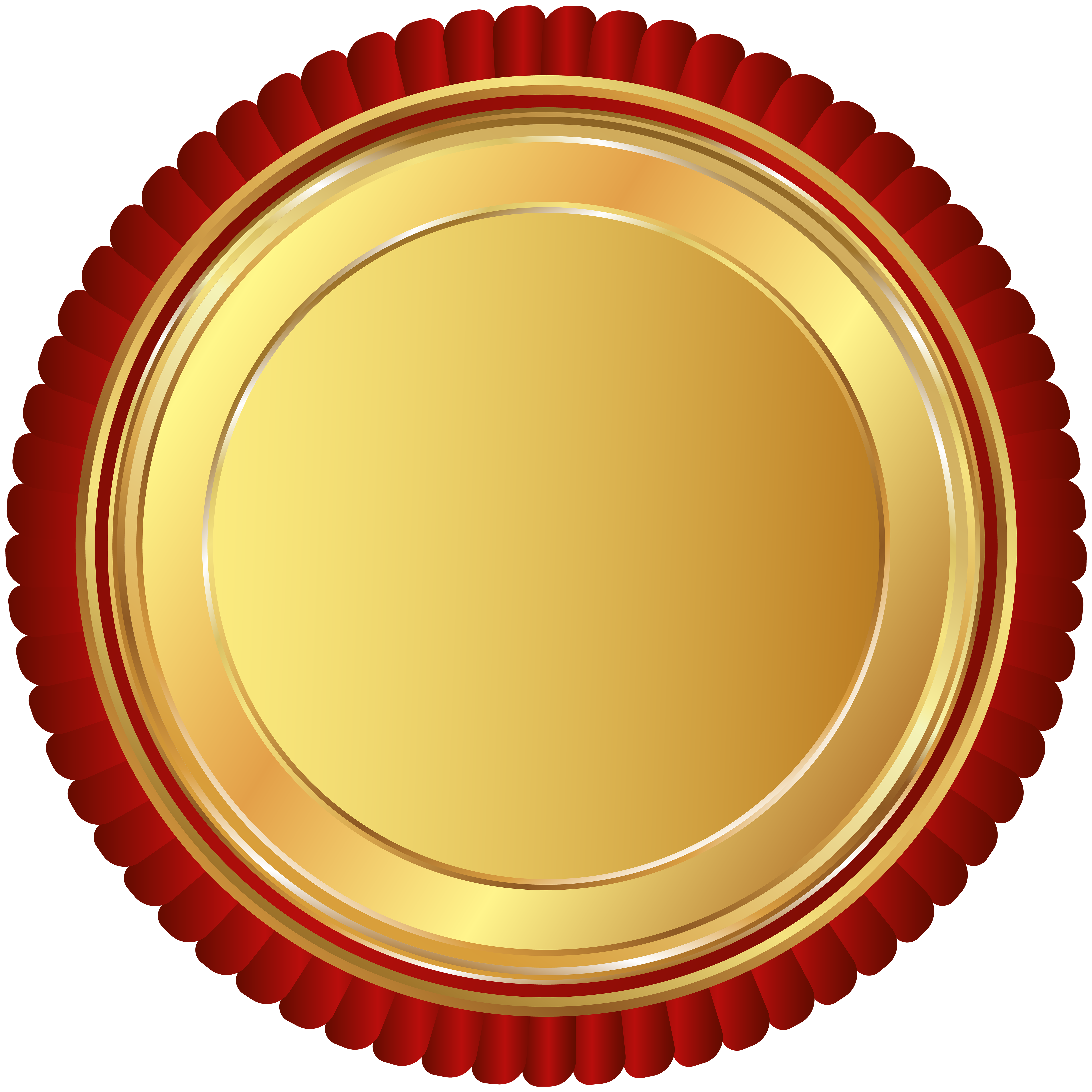 Gold Red Seal Badge PNG Clip Art Image Gallery