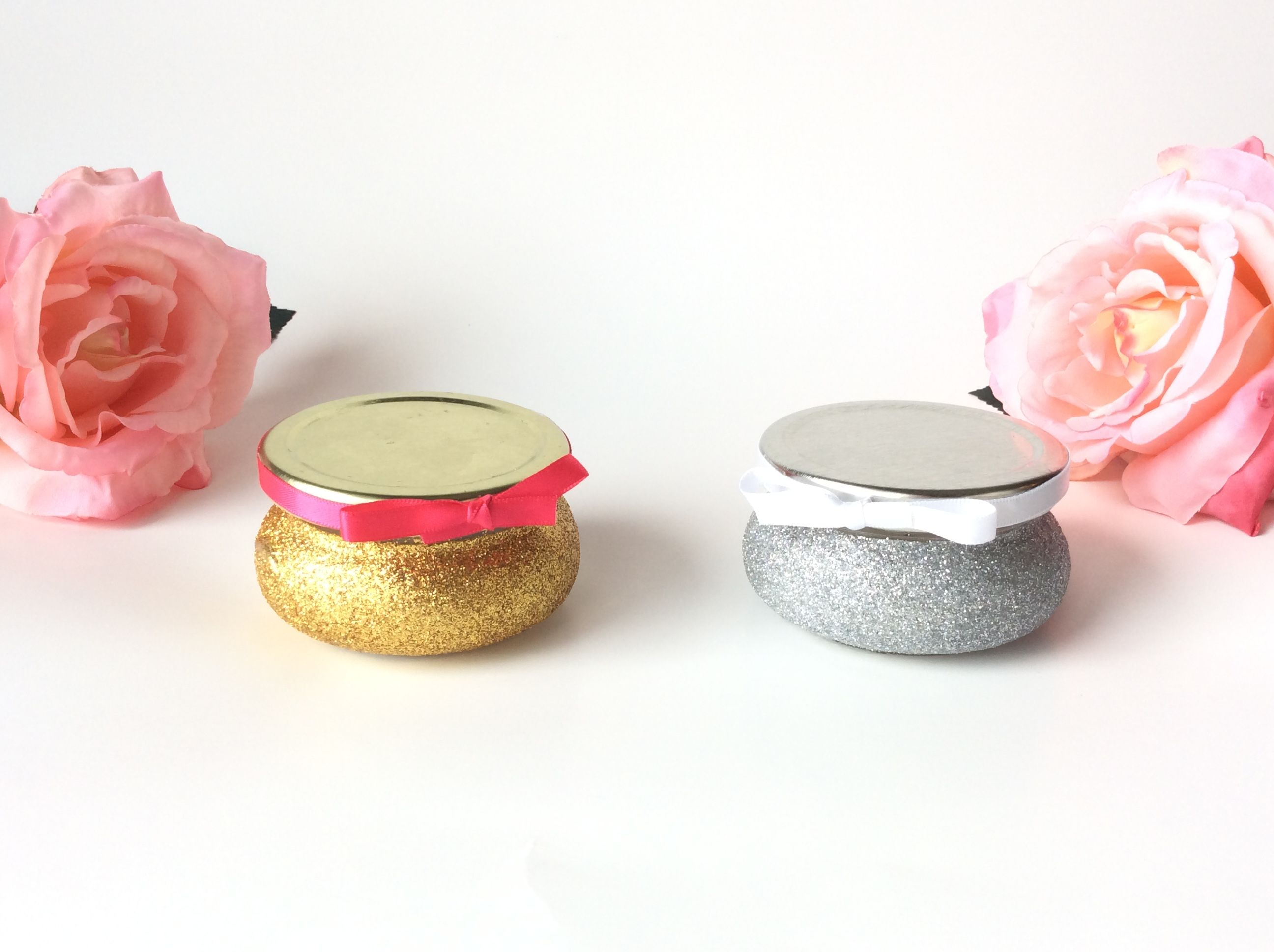 Glitter Jars- Wedding Favors- Bridal Shower Favors- Baby shower ...