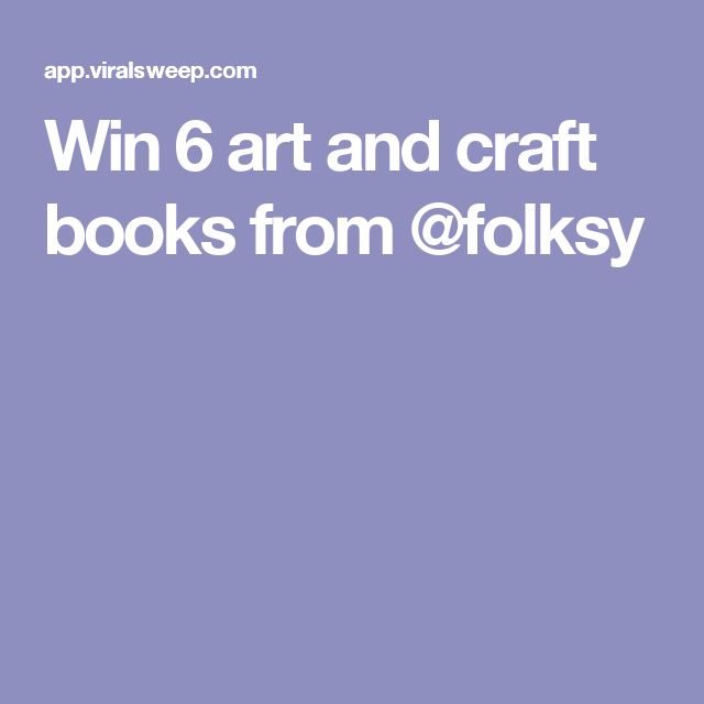 Win 6 art and craft books from @folksy