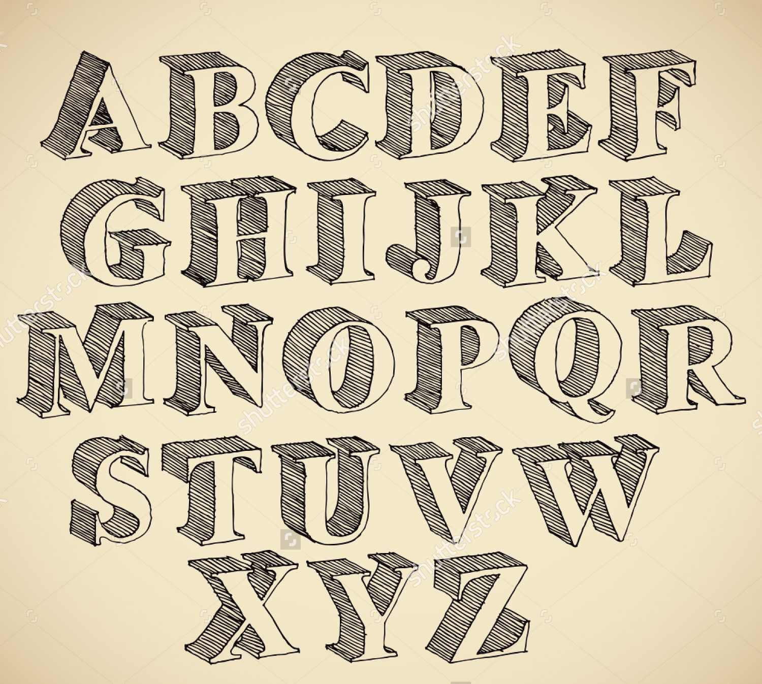 I Really Like This Font Because It Looks Quite Authentic But Stands Out Due To The 3D Shape Of Each Letter