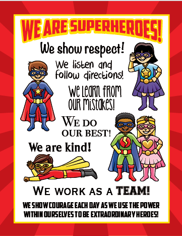superhero theme for preschoolers we are superheroes poster 24in x 30in 896