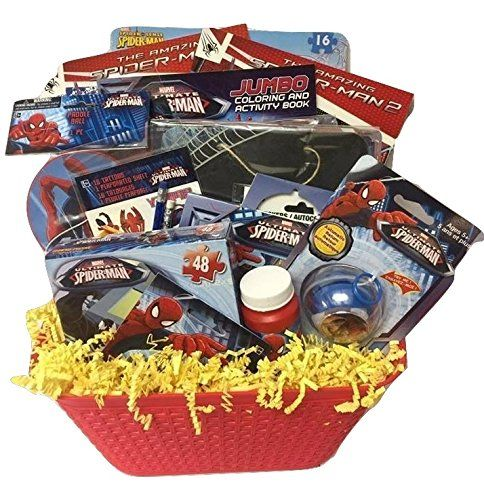Spiderman Marvel Hero Deluxe Gift Baskets Funfilled Activities Easter Basket For Boys 38 Years Old Check This A Marvel Heroes Marvel Spiderman Easter Baskets