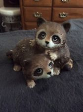 Two Racoons Home Interiors Figurine HOMCO