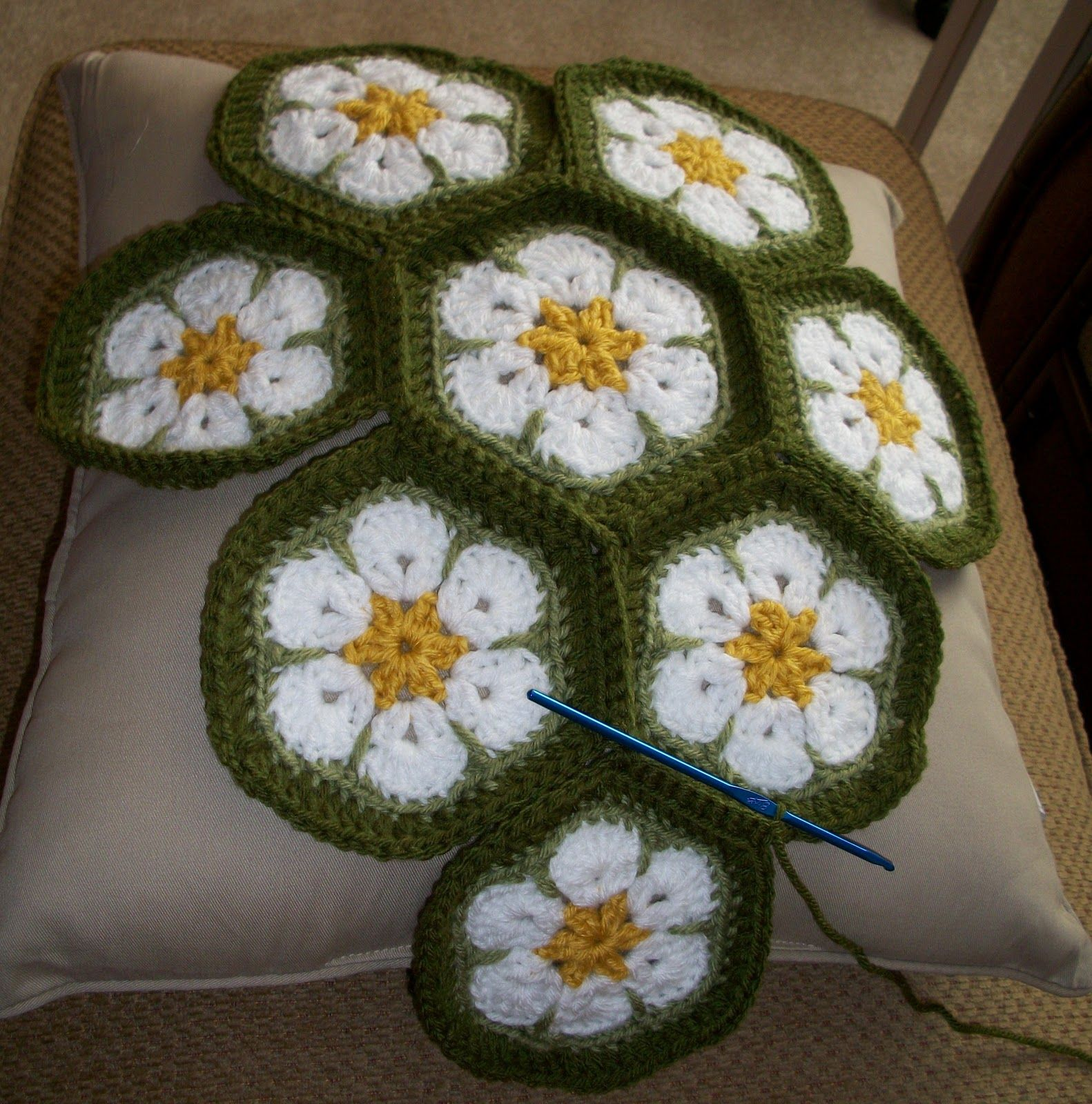 crochet african flower - Buscar con Google