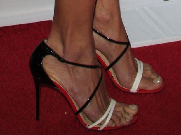 de23b15574e6 Alessandra Ambrosio wearing Christian Louboutin  Gwynitta  crisscross strap  sandals