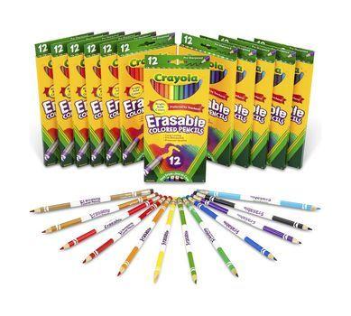 12 Box Classpack Of 12 Count Erasable Colored Pencils Erasable