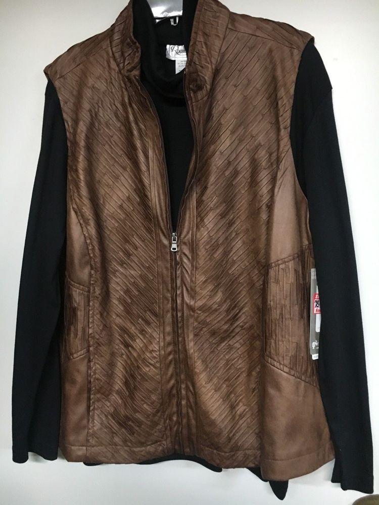 9b3e122011199 NWT Erin London Textured Vegan Leather Vest Women s Plus Size 3X  fashion   clothing  shoes  accessories  womensclothing  coatsjacketsvests (ebay link)