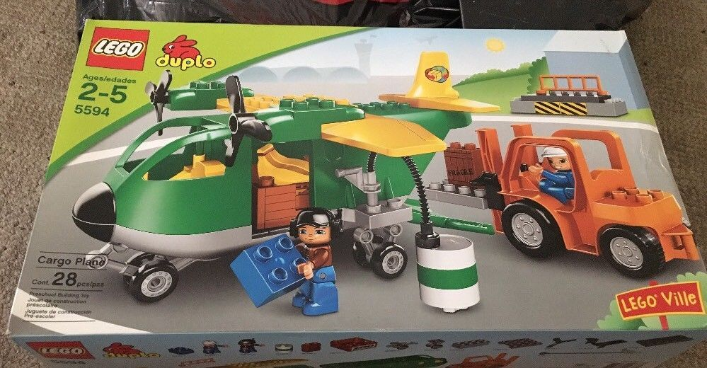 Brand new* lego duplo 5594 cargo plane * rare sealed best offer