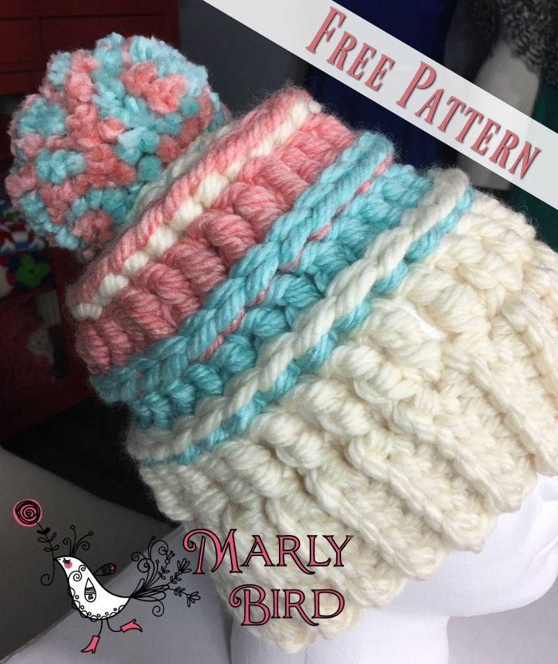 Chunky Monkey Bulky Hat: Free Bulky Crochet Messy Hat Pattern by ...