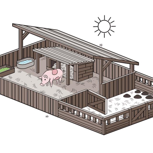 How To Set Up A Pig Pen Backyardplayhouse Pig Farming Pig House Raising Pigs