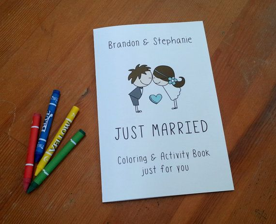 Personalized Kids Wedding Activity Books This Listing Is For 6 With Or Without Crayons The Book Cover Bride
