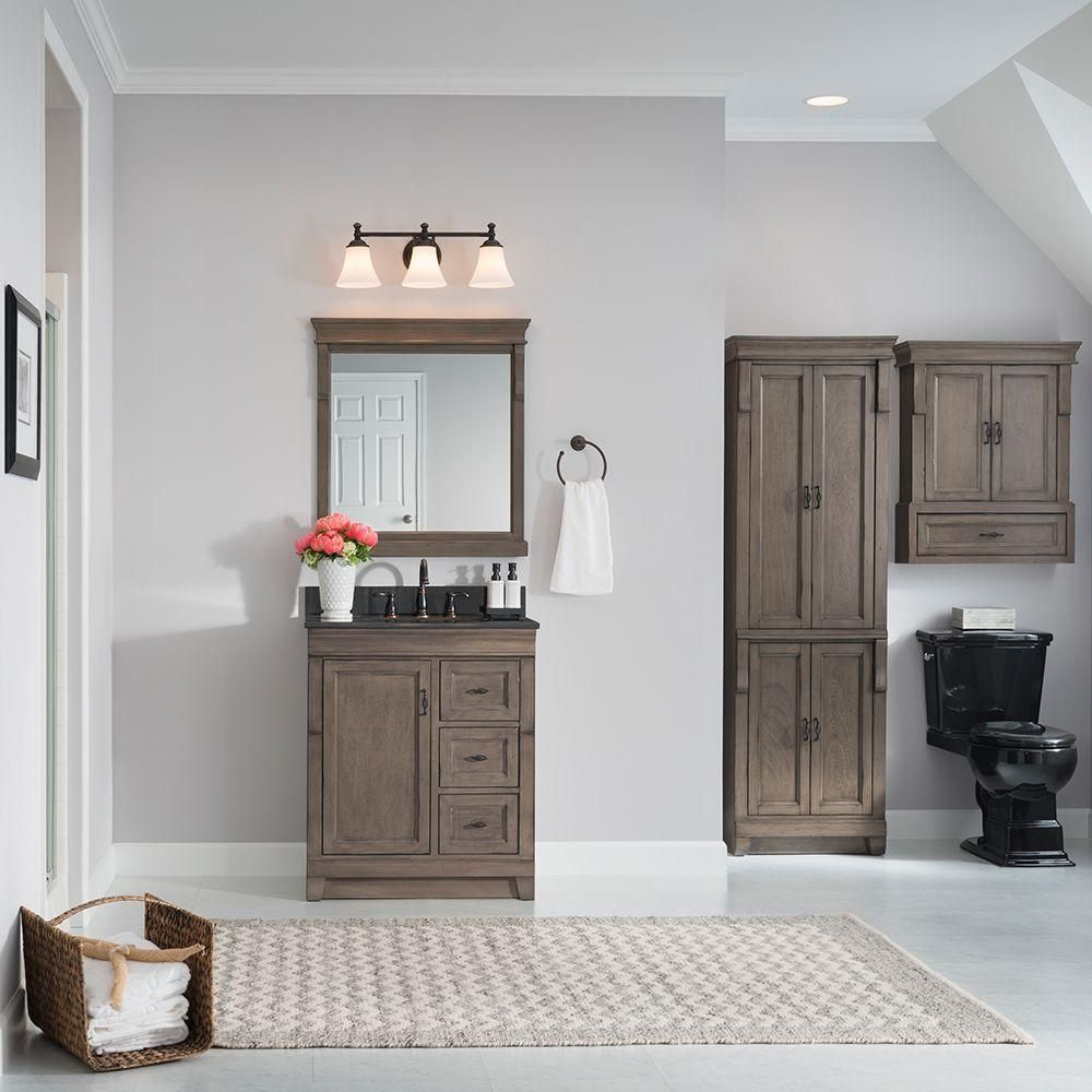 Home Decorators Collection Naples 30 In W Bath Vanity Cabinet Only In Distressed Grey With Right Hand Drawers Nadga3021d Vanity Cabinet Home Decorators Collection Bath Vanities