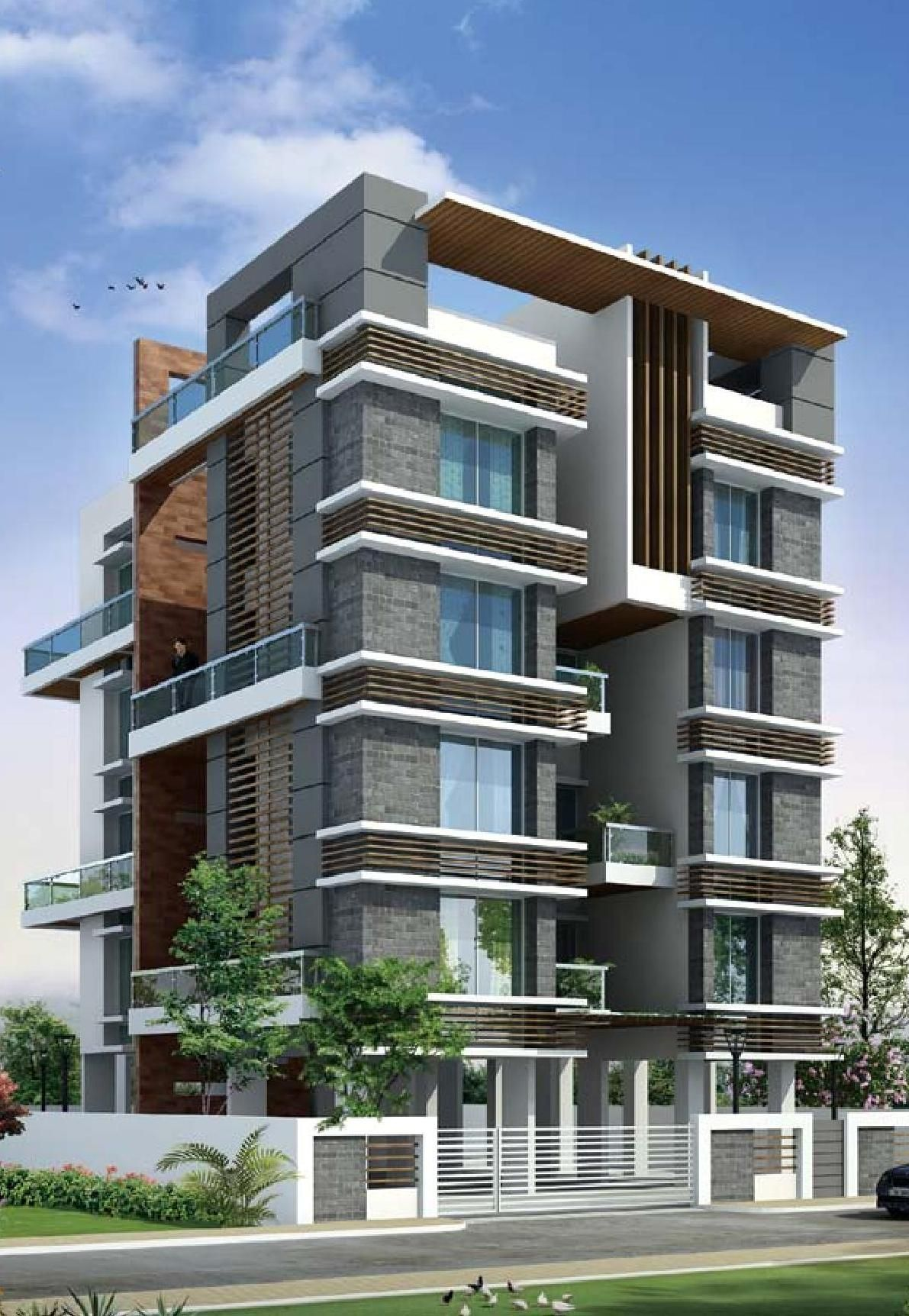 Exterior By Sagar Morkhade Vdraw Architecture: Four West In Baner Is The Bestever Apartments At Baner