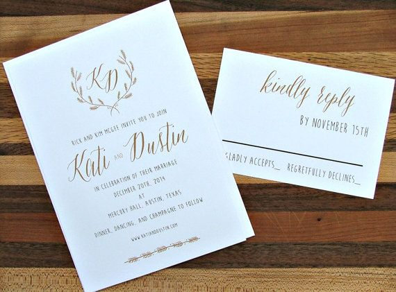 18 Simple Inexpensive Wedding Invitations Inexpensive wedding