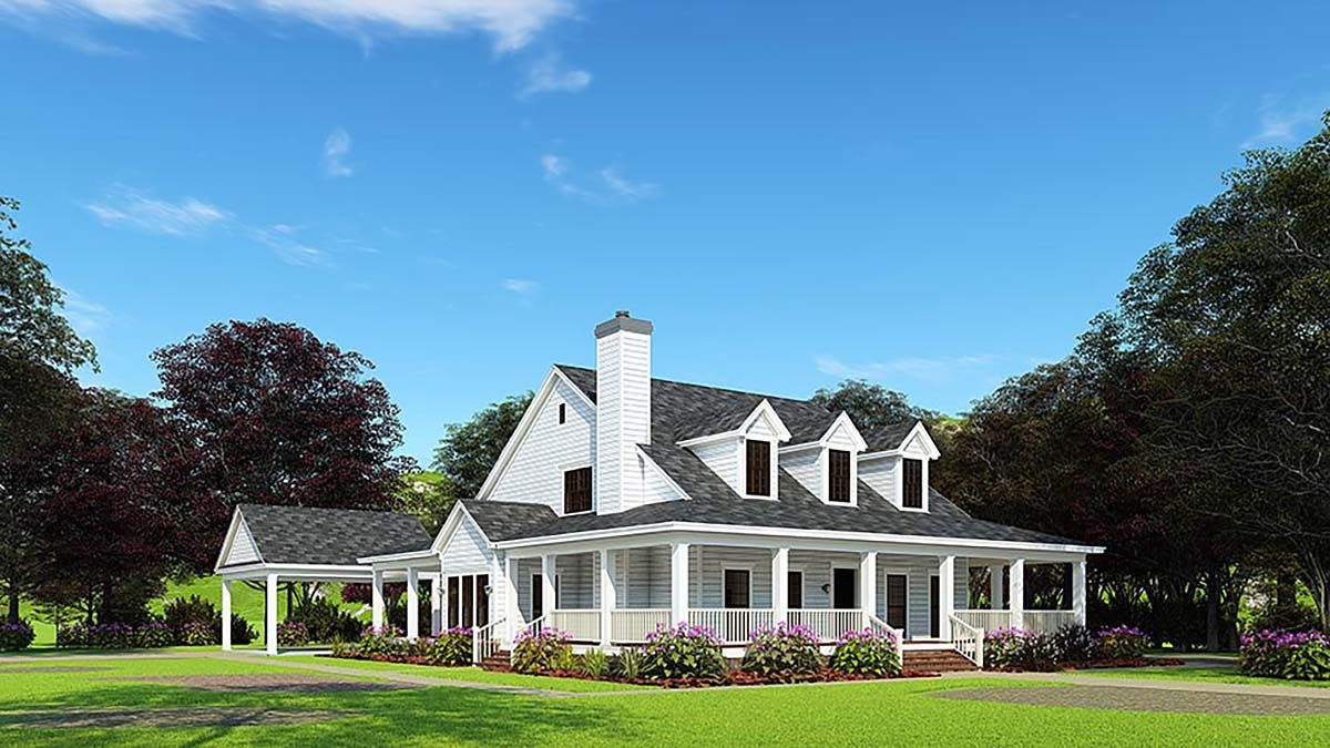 Southern Style House Plan 62032 With 4 Bed 3 Bath 2 Car Garage House Plans Farmhouse Farmhouse Plans Family House Plans