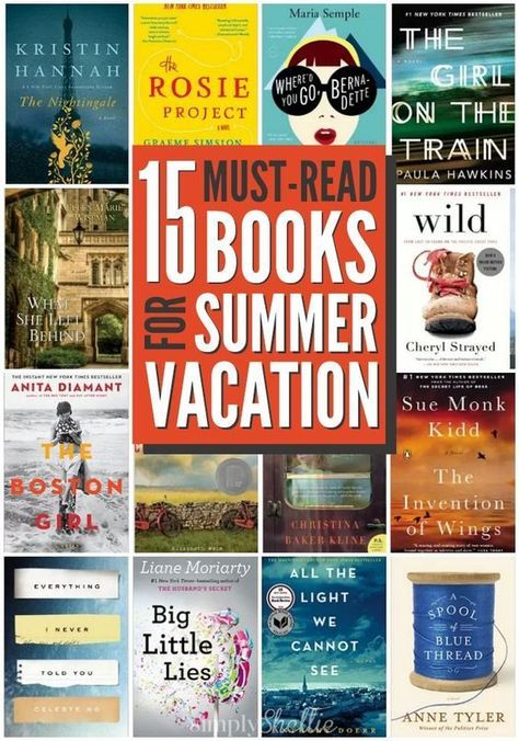 15 MustRead Summer Books is part of Summer books - 15 MustRead Summer Books I'm sure your kids have a summer reading list a mile long  And I'm sure you are signed up for all the Free Summer Reading Programs available  But summer reading isn't just for kids! There's nothing better than relaxing by the pool with a good book or sitting on the porch …