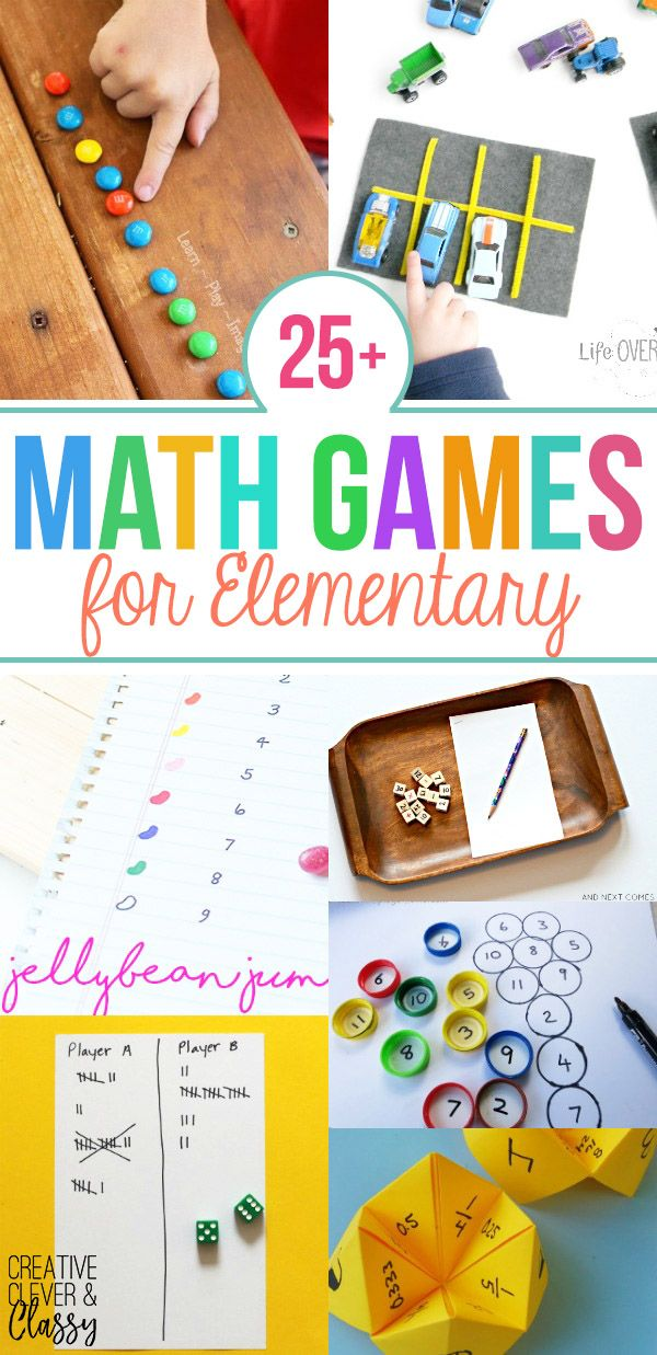 Enjoy math hands-on with these 25+ DIY math games for elementary ...