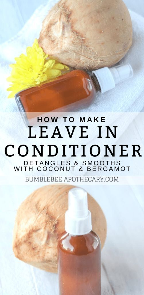 Leave in Conditioner Spray DIY | Bumblebee Apothecary #organichaircare