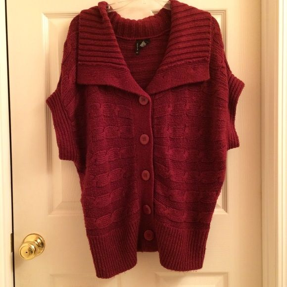 Burgundy Sweater New directions burgundy button up sweater. 100% acrylic new directions Sweaters Cardigans