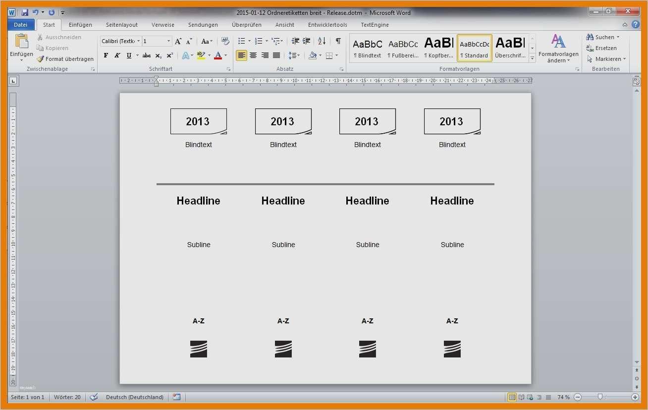 Leitz Ordnerrucken Vorlage Excel 18 Cool 8