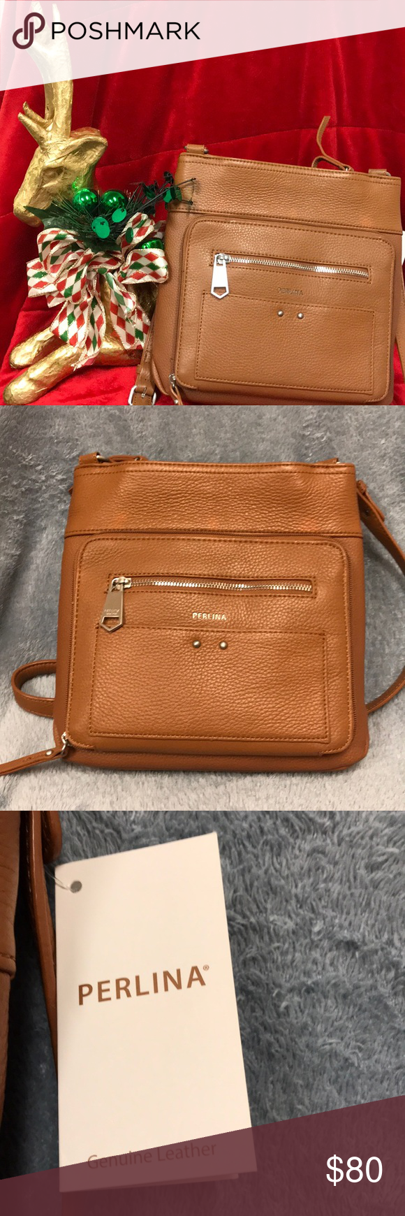 Nwt Genuine Leather Perlina New York Crossbody Ny Bag Style Is Clare Passport Measures 11x11x3 5