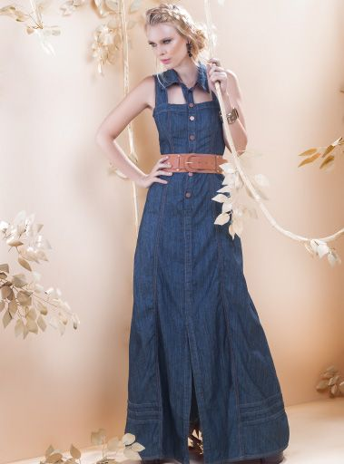 Vestido jeans longo goiania