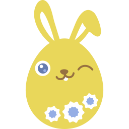 Easter Bunny Emoticon Stickers For Facebook Timeline Chat Email