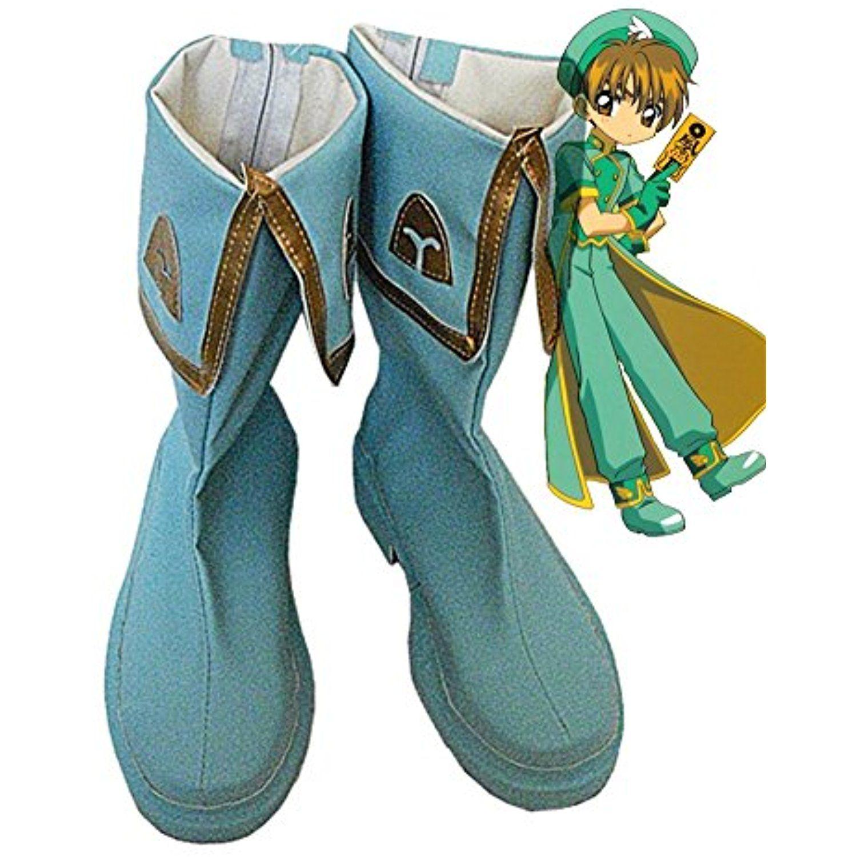 SAKURA Syaoran Li Cosplay Shoes Boots Custom Made Blue