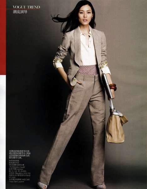 ab0b431c5e Retro-Modern Workwear   Dress for Success Vogue Nippon September 2010